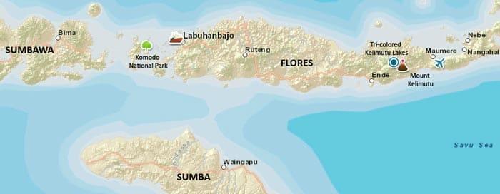 Mapa turístico de Flores