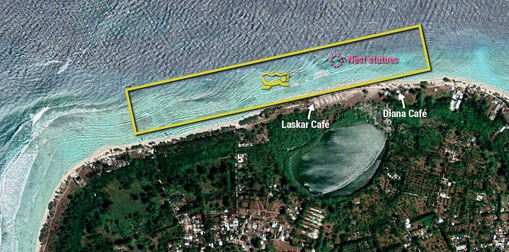 Dónde hacer snorkel en las Islas Gili